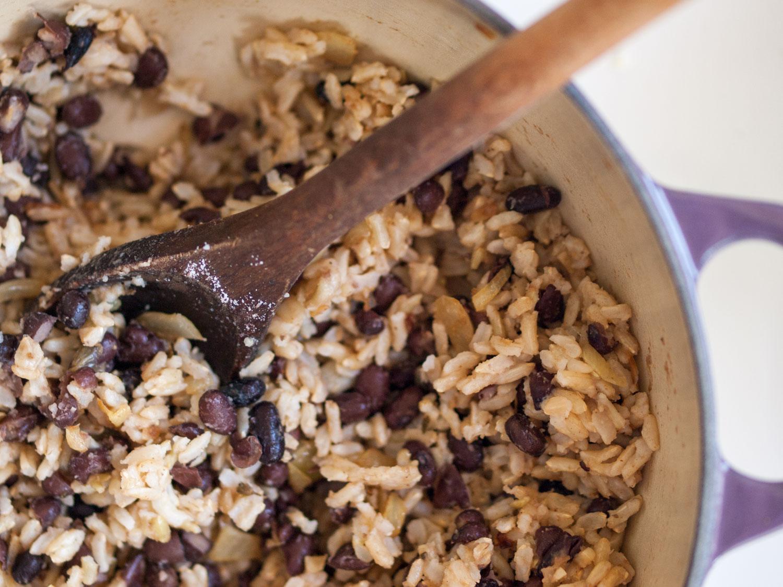 ¾ cup brown rice (dry measure) (I like basmati)