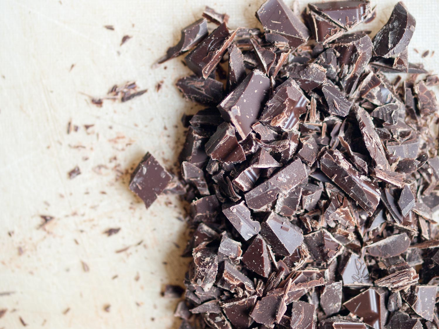 chopped dark chocolate